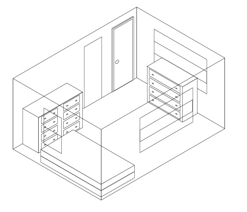 How to draw 3d room for 3d bedroom drawing